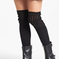 Hue 'Crochet Slouch' Over the Knee Socks | Nordstrom