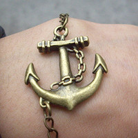 anchor bracelet by qizhouhuang on Etsy