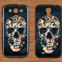 Vintage Floral Skull Samsung Galaxy S3 S4 Case,Floral Skeleton Galaxy S3 S4 Hard Case,cover skin Case for Galaxy S3 S4,More styles for you