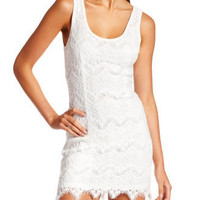 Charlotte Russe - Eyelash Lace Tank Dress
