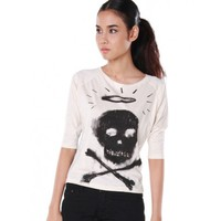 Skull X 3/4 Sleeve Raglan by Youreyeslie.com Online store> Shop the collection