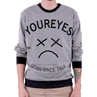 Lyingsince Mens Sweatshirt by Youreyeslie.com Online store> Shop the collection