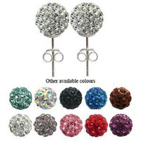 ONE PAIR of Crystal Stud Earrings by GlitZ JewelZ © - 5/16' (8MM) - bling bling!! Comes packed in a lovely velvet pouch - For the matching pendant (2nd picture ) and other colors/sizes choose from the menu below