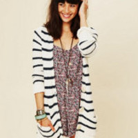 Free People Stripe Cardigan at Free People Clothing Boutique