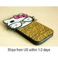 Leoporad Hello Kitty Back Cover Case for iPhone4/iPhone4S