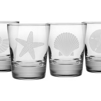 One Kings Lane - Celebrations at the Shore - S/4 Seashore Tumblers