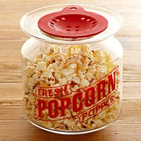 Microwave Glass Popcorn Popper