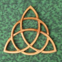 Triquetra Celtic Goddess-Wiccan Protection-Christian Trinity-Charmed | signsofspirit - Woodworking on ArtFire