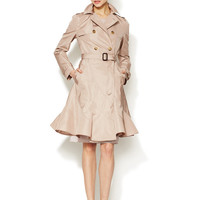 Silk Flared Trench Coat by Valentino at Gilt