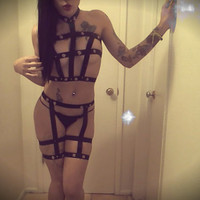 All Caged Up Body Harness Set