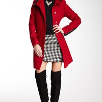 HauteLook | Via Spiga Outerwear: Faux Leather Trim Walker Coat