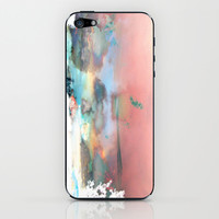 Clouds like Splattered Watercolor iPhone & iPod Skin by Ben Geiger
