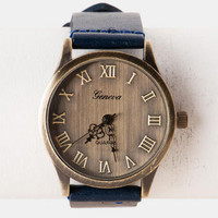 Salerno Rustic Watch in Navy