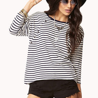 Nautical Button Striped Top