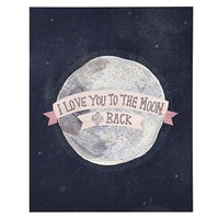 I Love You to the Moon and Back Poster Decal in Wall Decals | The Land of Nod