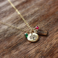 Personalized Sisters Necklace - Gold Sisters Necklace . Birthstone Necklace . Gift for Sister, Best Friend