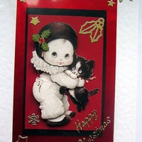 Christmas Card - Happy Christmas Hand-Crafted 3D Decoupage Card - Happy Christmas (1289)