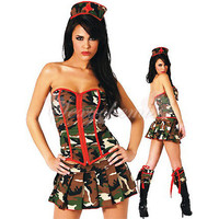 Camouflage Women Soldiers Cotton Zipper Charming Sleeveless Costumes [TQL120322021] - $26.31 : Zentai, Sexy Lingerie, Zentai Suit, Chemise