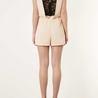 Lace Back Playsuit - New In This Week - New In - Topshop USA