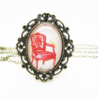 Vintage style chair necklace ,personalized jewelry ,Handmade Jewelry DN915