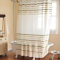 Charlotte Cotton Shower Curtain - Plow & Hearth