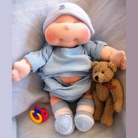 Dinky Baby, 14 Inch Soft Cloth Doll Pattern, Free Shipping | Luulla