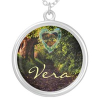 Woodland Heart Name Necklace from Zazzle.com