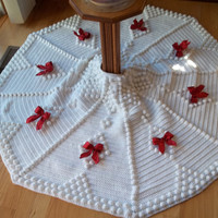 Christmas Tree Skirt in White