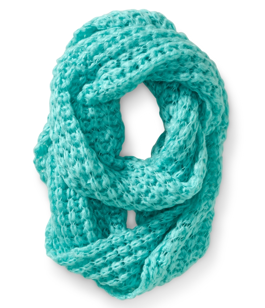 Knit Butterfly Stitch Scarf : Solid Butterfly Knit Infinity Scarf - from Aeropostale