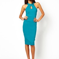 Vesper Pencil Dress With High Neck