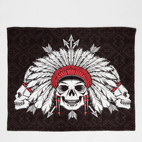 Chobopop For DENY Geometric Skull Throw Blanket