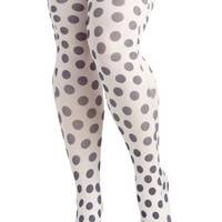 Dot to Have You Tights in Plus Size | Mod Retro Vintage Tights | ModCloth.com