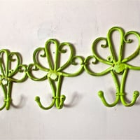 Decorative Lime Green Wall Hook by AquaXpressions
