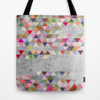 Colorful 1 Tote Bag by Mareike Böhmer Graphics