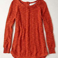 Slubby Button-Back Pullover