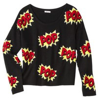 Xhilaration® Juniors POP Pullover Sweater - Black