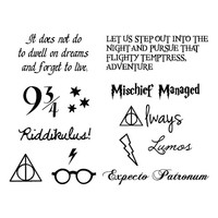 Harry Potter - Temporary Tattoo (Set of 24)