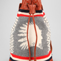 Pendleton Blanket Leather Backpack - Urban Outfitters