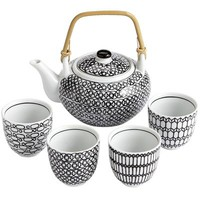 Black & White Teapot Set