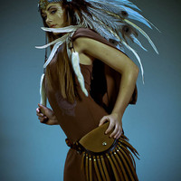 Feather Headdress The Healer Feather Headdress by RoosterBaby22
