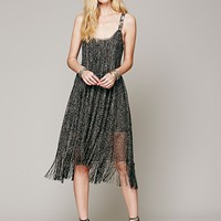Midnight Magic Fringe Dress
