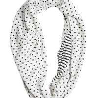 Dot Stripe Eternity Scarf | Shop Just Arrived at Wet Seal