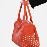 Orange Studded Bag - Furor Moda - Tops - Dresses - Jackets - Vintage