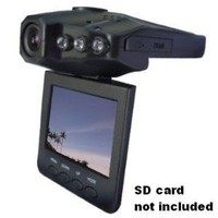 "SainSpeed F198 Car Dash DVR With Night Vision, Microphone Built In, 2.5"" Rotatable and Foldable TFT LCD Screen display"