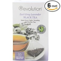 Revolution Tea Earl Grey Lavender Tea, 16-Count Teabags (Pack of 6)