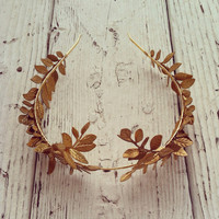 Greek Goddess Gold Crown