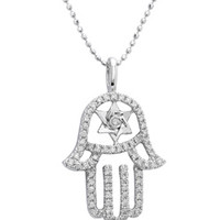Mystic Light Star of David Hamsa Necklace - Max and Chloe