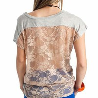 lace back top &amp;#36;20.20 in GREYTAUPE - Lace | GoJane.com