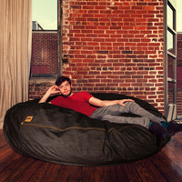 Jaxx Denim Cocoon 6ft Bean Bag Chair at Brookstone—Buy Now!