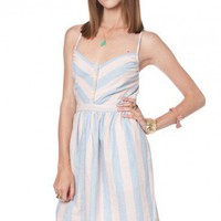 Swifty Chambray Striped Dress - ShopSosie.com